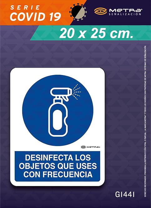 Desinfectar objetos (20 x 25 cm) 1 pza.