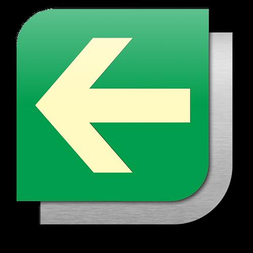 Ruta de Evacuación Izquierda (18.5 X 18.5 cm.)