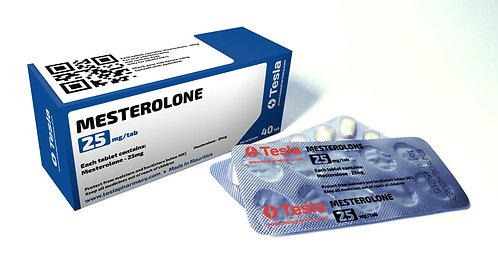 Tesla Pharmacy Mesterolone 25mg/tab 40tab