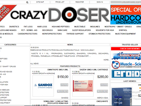Crazydoser.com reviews 2020 - Roidslist.com