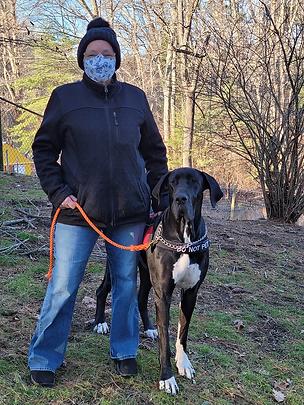 Service Dog Aurora & Partner Annette