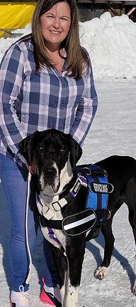 Service Dog Dale & Partner Stacy