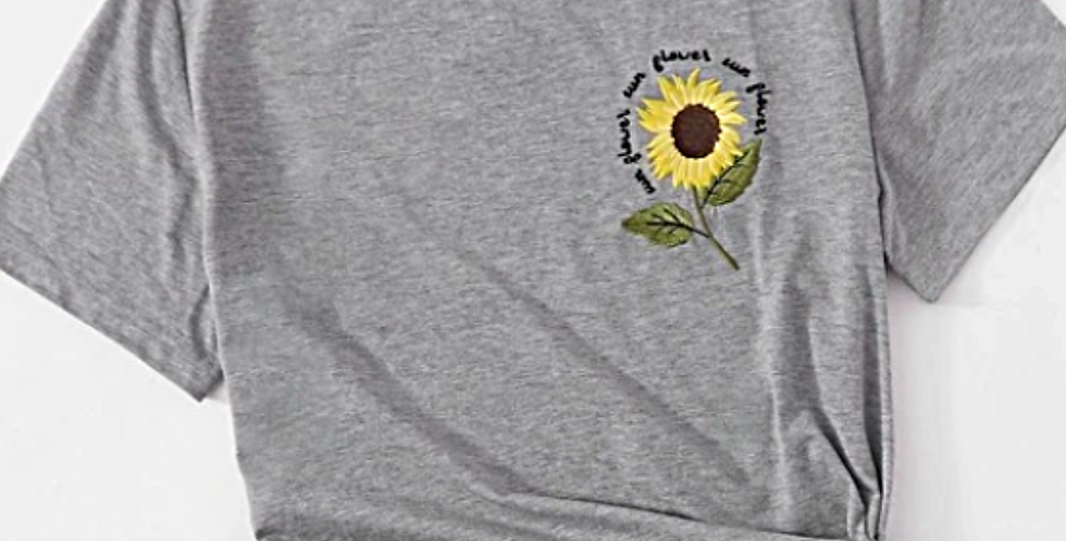 Sunflowers - Embroidered