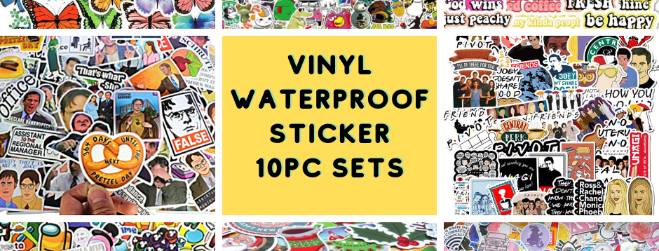 Vinyl Sticker Pack - 10pcs