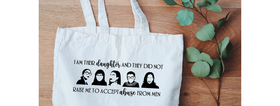 Canvas Tote - I am Their Daughter, AOC