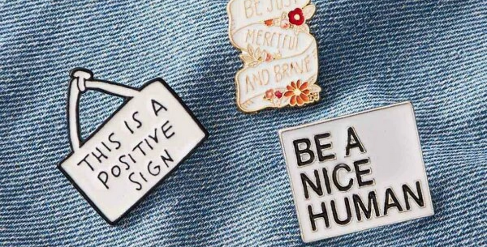 Positive Quote Pin