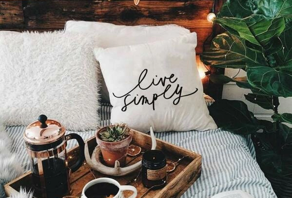 Live Simply - Pillow Cover