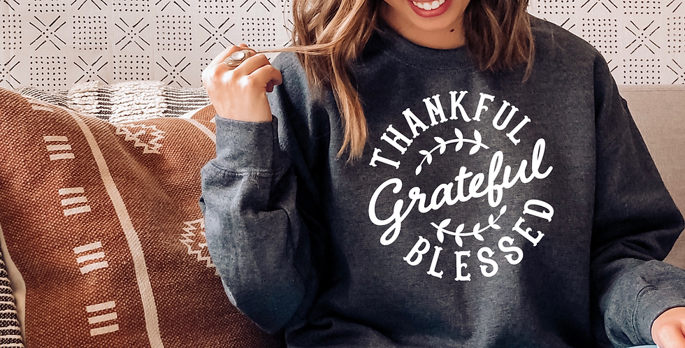 Thankful , Grateful, Blessed - Tee