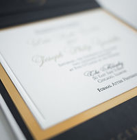 Letterpress wedding invitation on double-thick cotton paper for Locusts on Hudson Wedding - by Lucky Invitations.