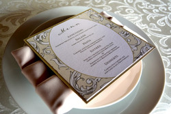 elegant-layered-square-wedding-menu-with-damask-design-by-lucky-invitations