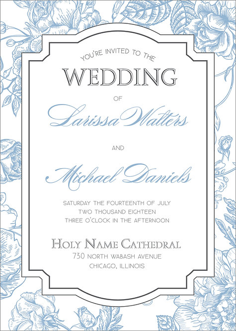 Larissa Invitation Suite - Flat Print