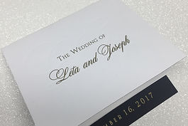 Custom wedding weekend itinerary letterpress printed on wood paper for a Locusts on Hudson wedding, by Lucky Invitations.