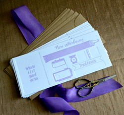 Fill In letterpress baby announcement by Lucky Invitations
