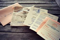Nautical Letterpress Invitation