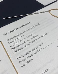 Wedding Ceremony Program, by Lucky Invitations