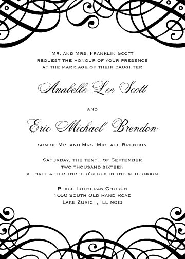 Evelyn Invitation Suite - Flat Print