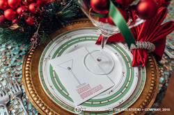 Christmas-place-setting-with-custom-christmas-card-martini-by-lucky-invitations