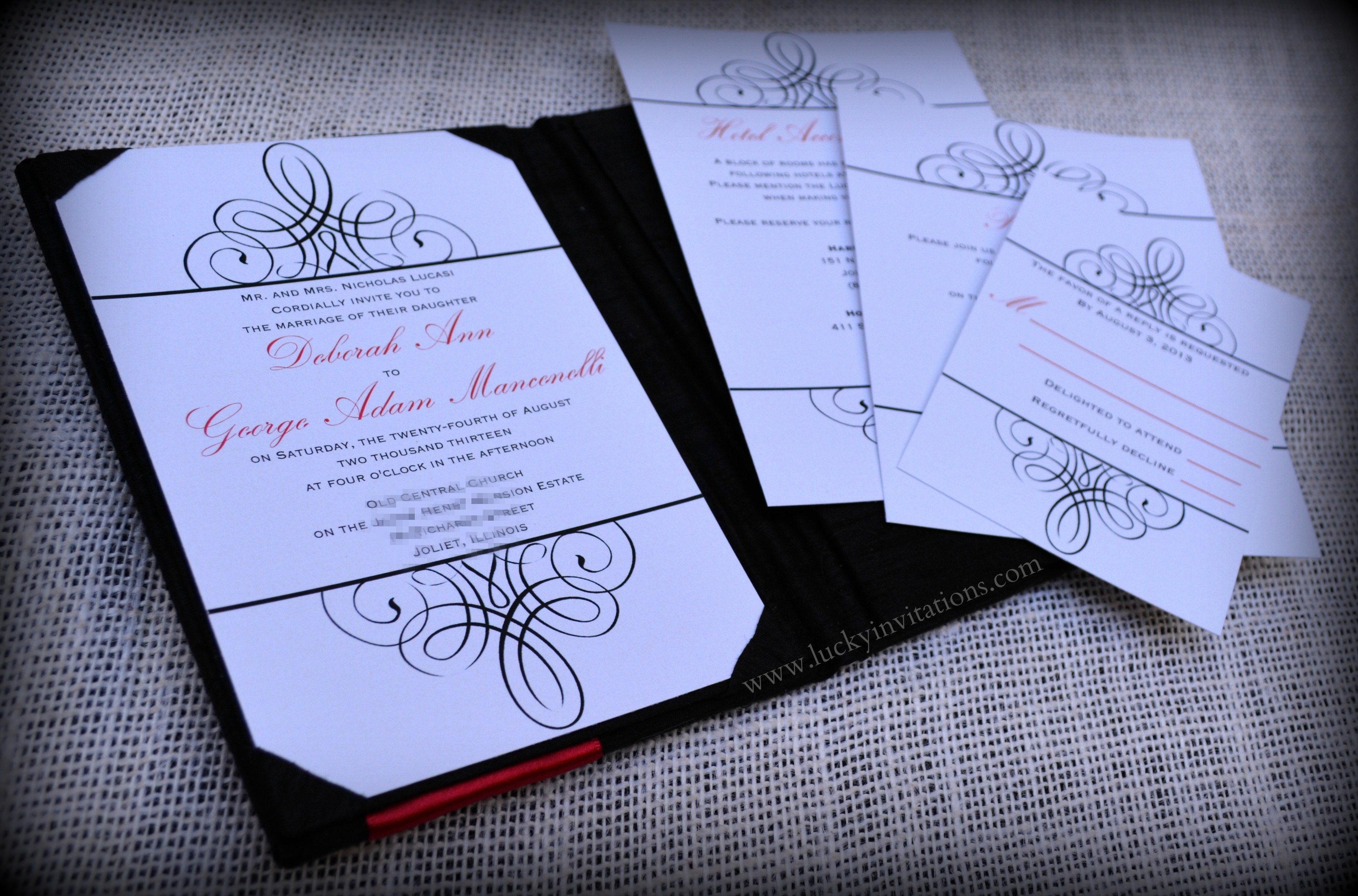 luxury-black-white-red-silk-boxed-wedding-invitation-by-lucky-invitations