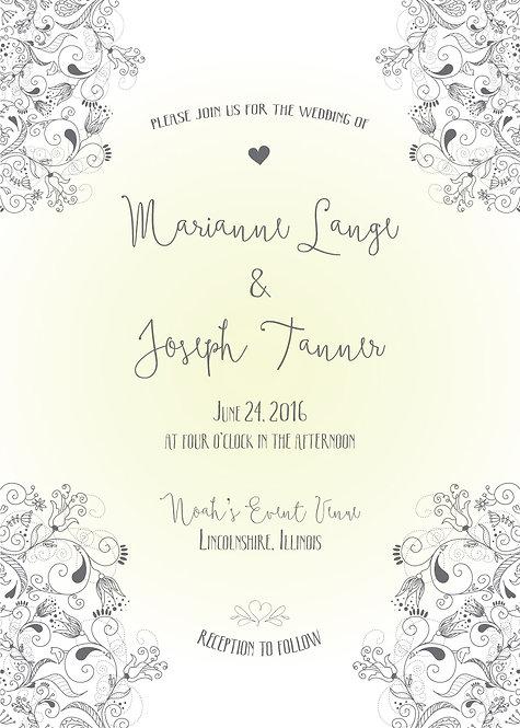 Marianne Invitation Suite - Flat Print