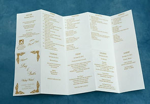 Rosemary Beach, FL wedding itinerary on Map, by Lucky Invitations.