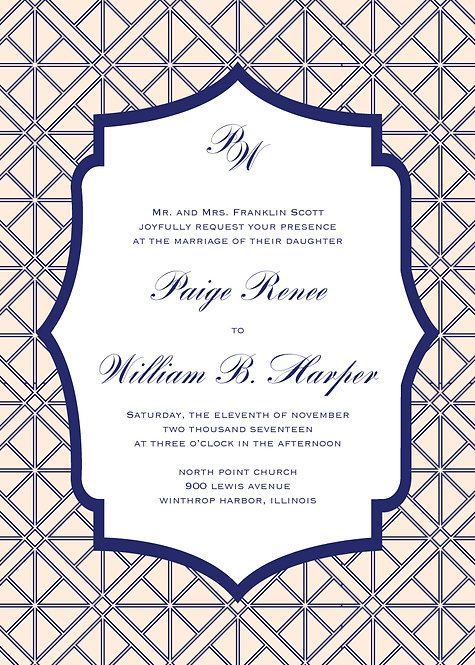 Elizabeth Invitation Suite - Flat Print