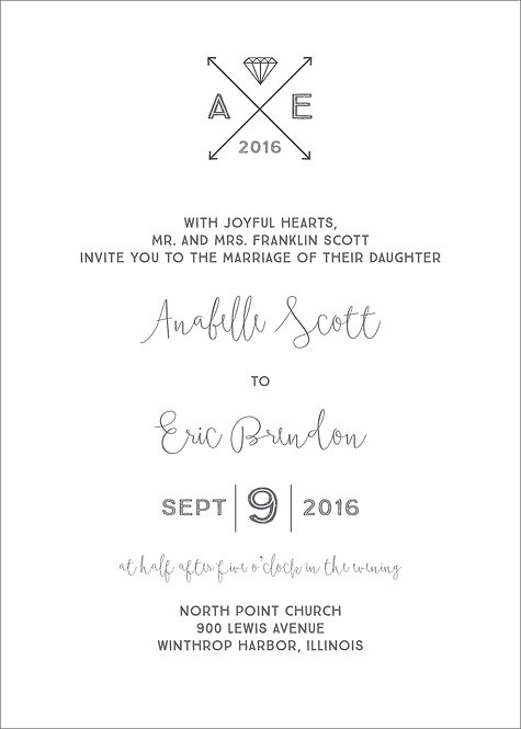 Olivia Invitation Suite - Flat Print