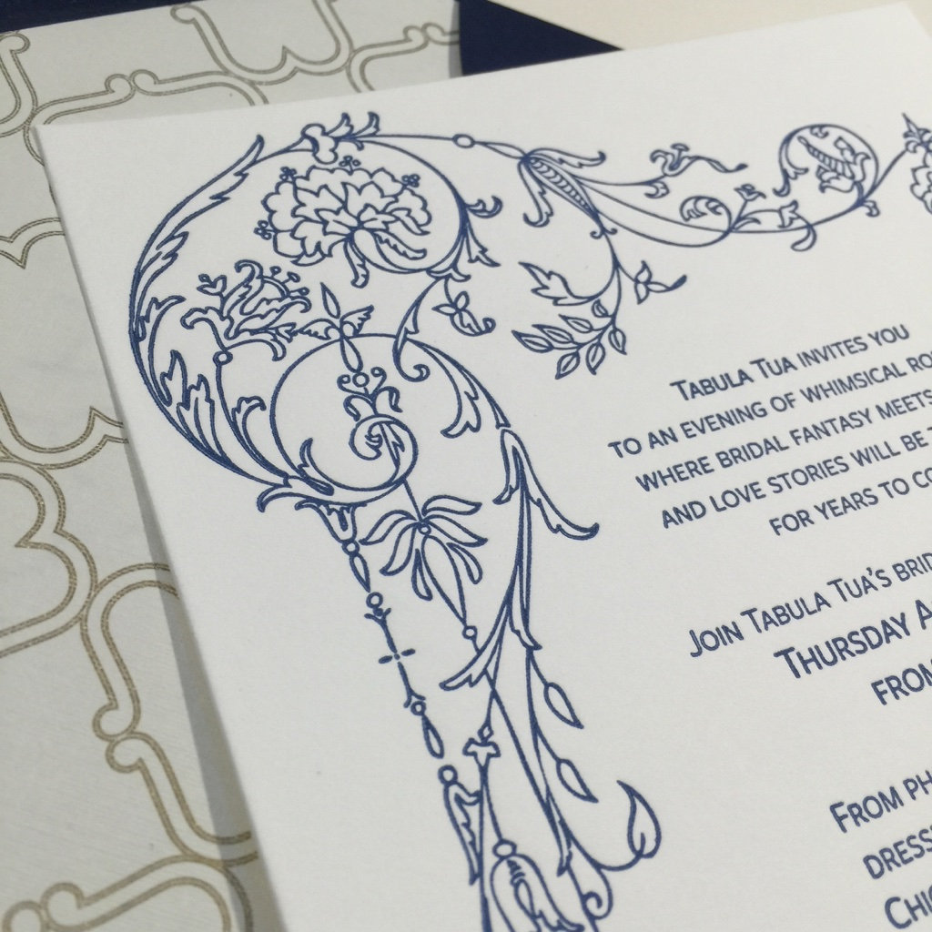 tabula tua invitation closeup
