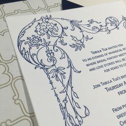 tabula tua invitation closeup