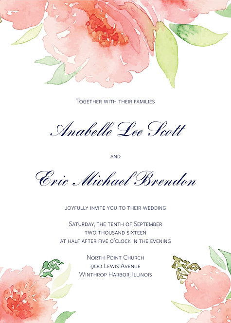 Bella Invitation Suite - Flat Print