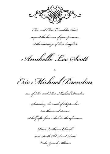 Peyton Invitation Suite - Flat Print