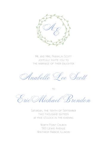 Savannah Invitation Suite - Flat Print