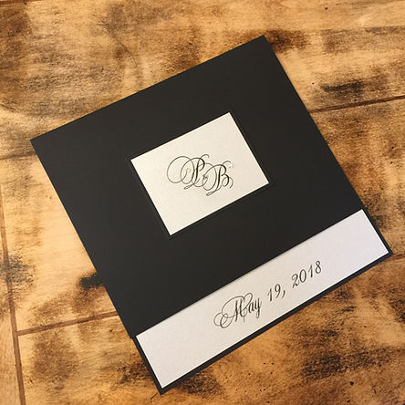 Beautiful barn wedding invitation with letterpress and watercolor details, by Lucky Invitations. Locusts on Hudson wedding invitation.