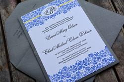Blue and Yellow Invitation