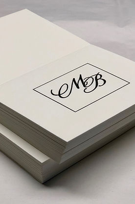 Custom letterpress printed wedding invitation, by Lucky Invitations. Venue: Locusts on Hudson. Photo: Dave Robbins Photography. Planner: Matthew Robbins