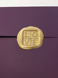 Wax seal for wedding invitations, by Lucky Invitations.
