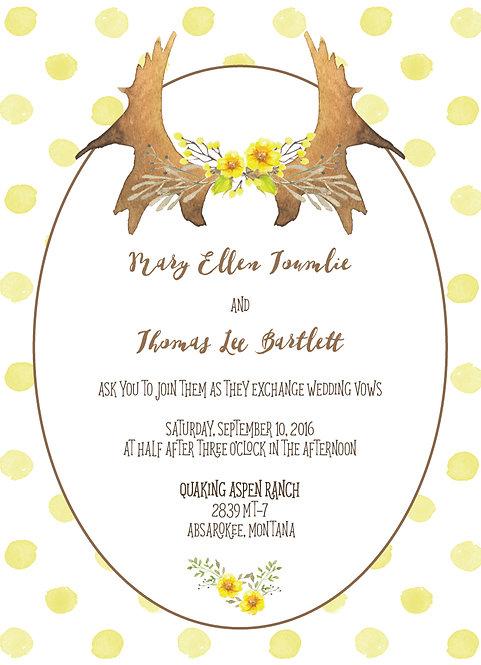 Tanya Invitation Suite - Flat Print