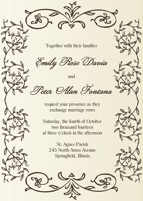 Eleanor Invitation Suite - Flat Print
