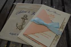 Nautical Letterpress Wedding Invite