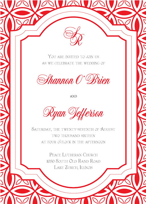 Shannon Invitation Suite - Flat Print