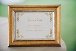 Wedding signage, by Lucky Invitations. Chicago wedding invitations.