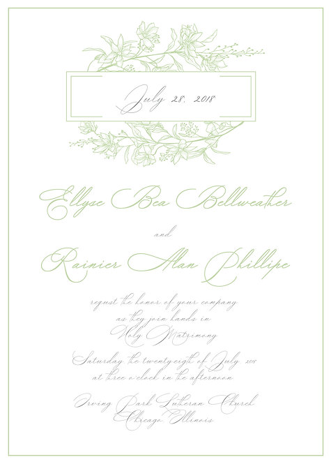 Ellyse Invitation Suite - Flat Print