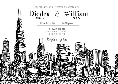 Chicago Invitation Suite - Flat Print