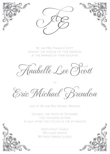 Alexa Invitation Suite - Flat Print