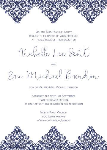 Ariana Invitation Suite - Flat Print