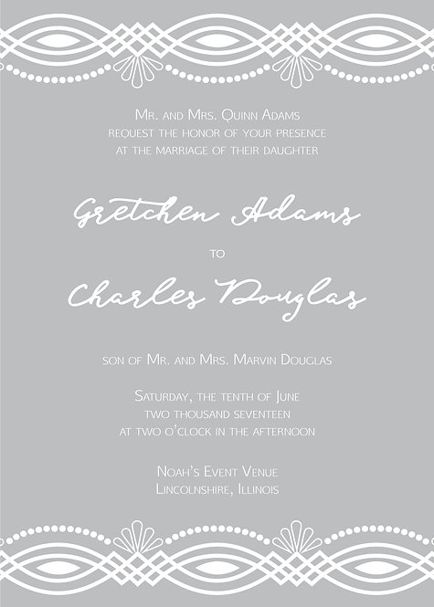 Clara Invitation Suite - Flat Print