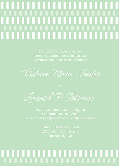 Tiffany Invitation Suite - Flat Print