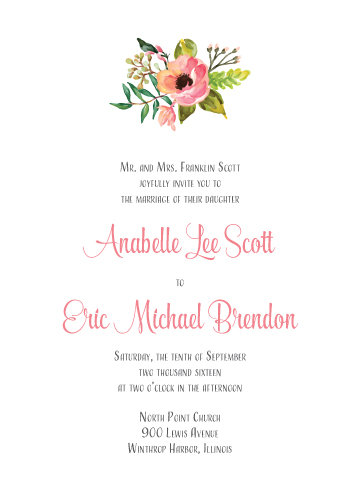 Emma Invitation Suite - Flat Print