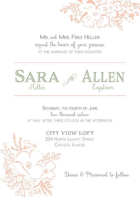 Amelia Invitation Suite - Flat Print