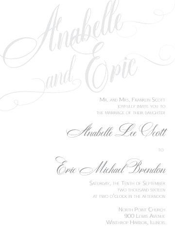 Natalie Invitation Suite - Flat Print