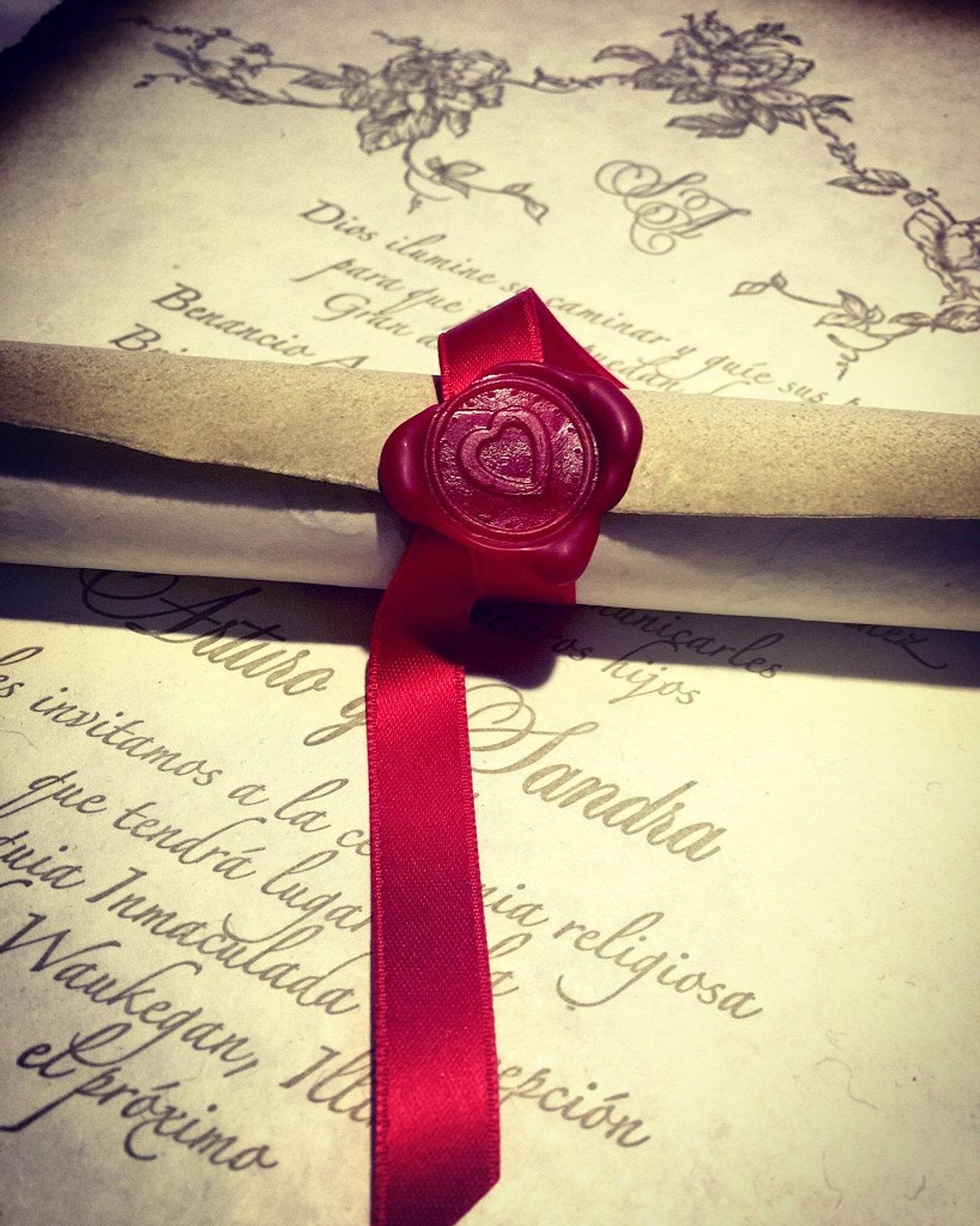 Chicago custom designed wedding invitations. Letterpress Printing.